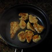 キャンプ料理、鶏むね肉の焼肉