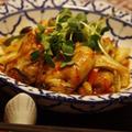 牡蠣と白菜のキムチ炒め