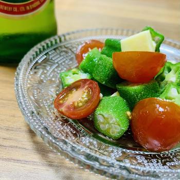 オクラとトマトのオリーブオイル和え【15分レシピ】