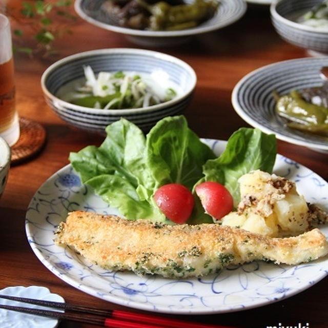カリカリ!鯛の香草パン粉焼き。