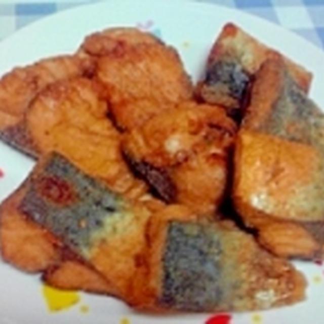 唐揚げ粉で簡単調理、鯖の唐揚げ♪