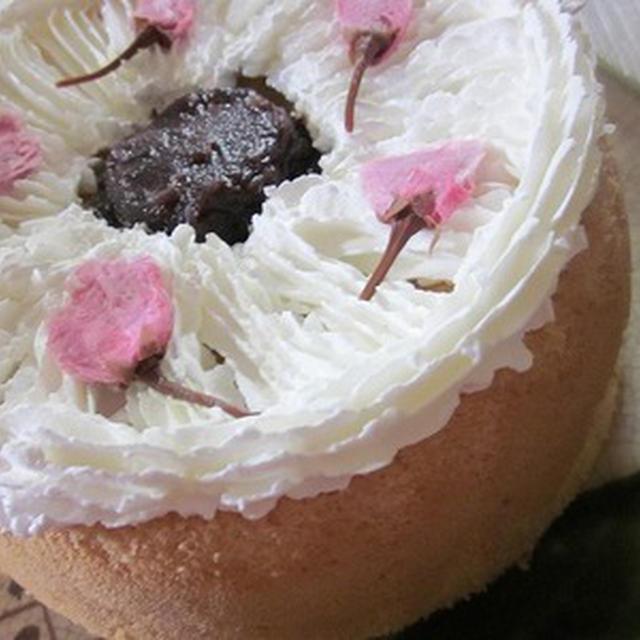 桜の米粉シフォンケーキ♪