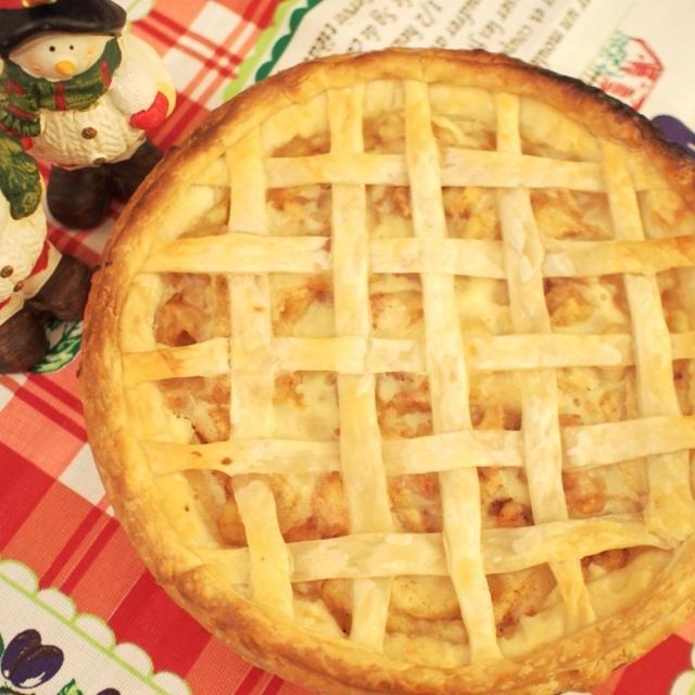 【お菓子】パイシートを使って♪簡単カスタードアップルパイのレシピ