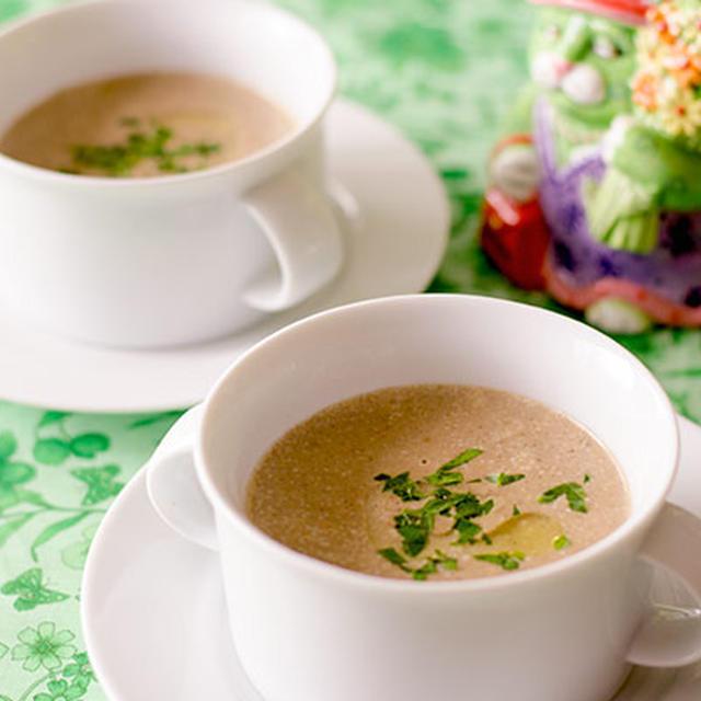 ポルチーニ茸のクリームスープ (グルテンフリー、低糖質)