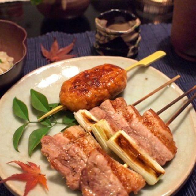 手作りつくねと豚バラ肉のネギマ