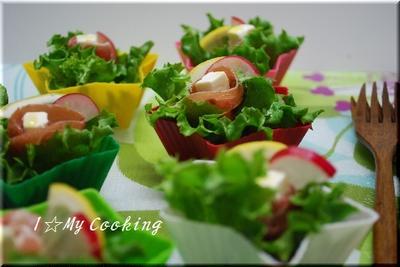 パルマハムのおつまみプチサラダ