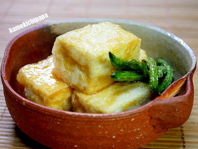 いんげんの素揚げが美味しい「揚げ出し豆腐」&カップルヌードル「味噌」発見!