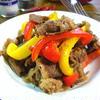 牛肉とパプリカのペペロンチーノ