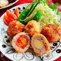プチトマトとチーズの肉巻きフライ【たこ焼き器】(動画レシピ)