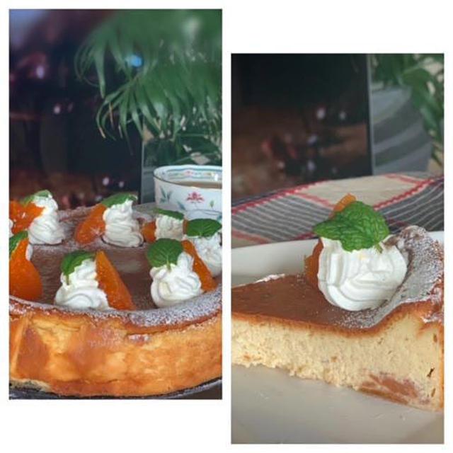 フープロで簡単!!レッスン用ティータイムスィーツはあんぽ柿のベークドチーズケーキ♪♪