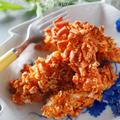 カリッと香ばしい鶏ささみの柿タネせんべいスティック