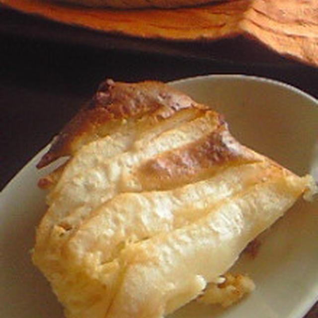オヤツ:洋梨とチーズのスクープケーキ