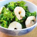 簡単春野菜♪菜の花と海老の白だし煮