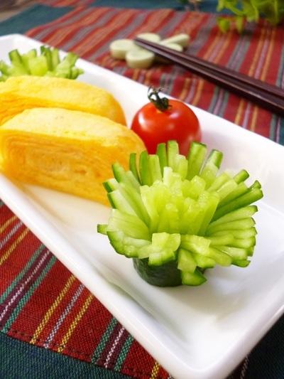 飾り切り✿胡瓜のお花✿