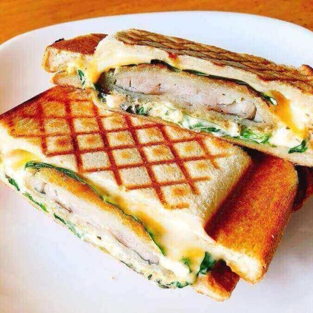 管理栄養士のホットサンドレシピ。アジフライにタルタルチーズが最高!