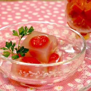ダイエットや夏バテ予防に!身体に優しいスイーツ「トマト寒天」