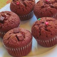 ミント&プレーン味のチョコケーキ♪