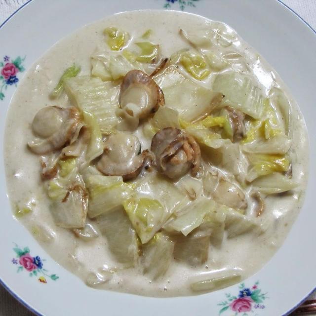 ホタテと白菜のクリーム煮