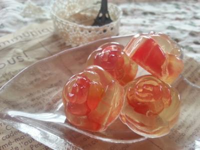 キラキラ♪フルーツの手作りグミ