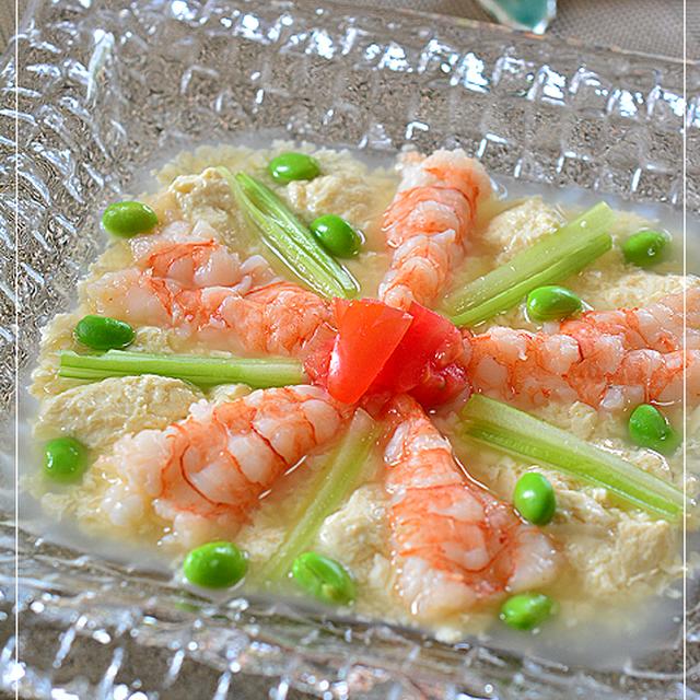 海老と冷凍豆腐のレモングラス香る冷たい一皿♪
