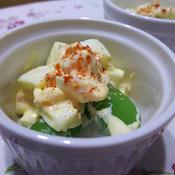 スナップエンドウと卵のマヨサラダ
