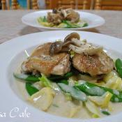 鶏肉と春野菜のフリカッセ