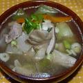 きのことチンゲン菜の豚汁(舞茸入り)