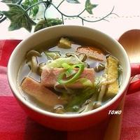 具沢山スープ♪スパムの根野菜スープ