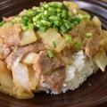 コクがしっかり♪豚肉と白菜の味噌あんかけ丼