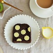 スライス生チョコレートでお花トースト♪