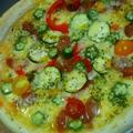 夏野菜のピザ&トマトクリームパスタ by ささっちさん