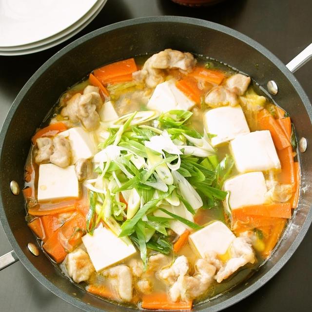 簡単☆あっさり旨塩な豆腐チキンスープ