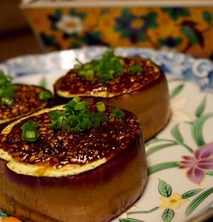 小料理屋さんの味日本酒のおつまみに「なす味噌田楽」