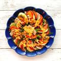 レンジで簡単!豚肉と夏野菜のさっぱり蒸し!