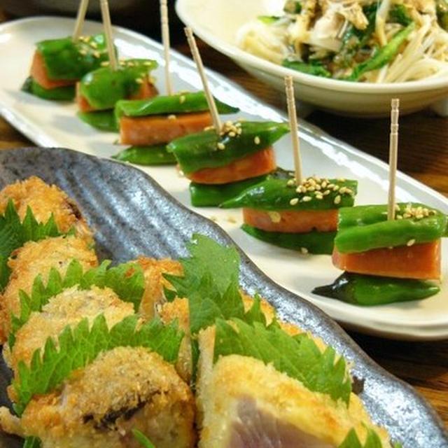 【 お肉&野菜レシピ 】 えのき素麺サラダ ☆おうち居酒屋♪
