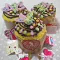 バレンタインカップケーキ心弾むよ!