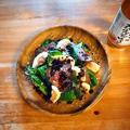 市販のローストビーフで★イチジクと小松菜のタリアータ