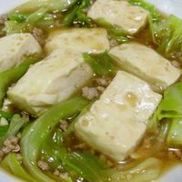 鶏のひき肉で作る辛くない和風麻婆豆腐