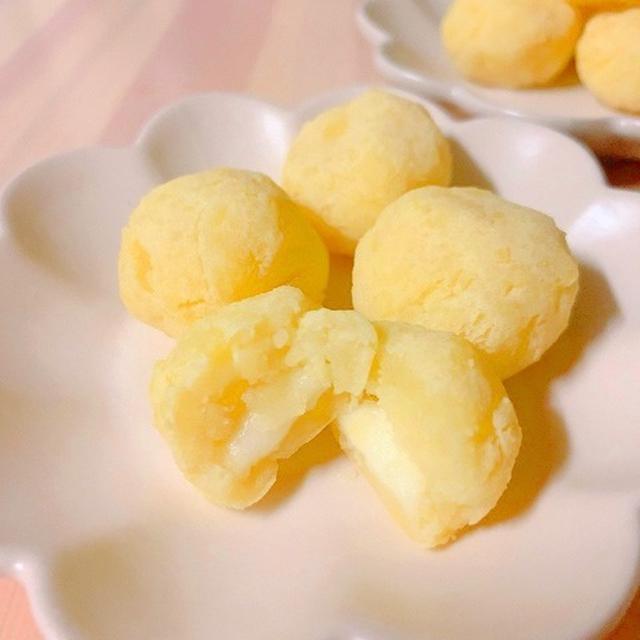 【ダイエットおやつ】デトックス&美肌☆レンジでお手軽♪じゃがいもと豆腐のもちもちチーズ団子