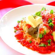 【動画】巻かないロールキャベツ トマトソースのレシピ作り方 ー キャベツ大量消費