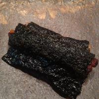 キムチ納豆の磯辺揚げ