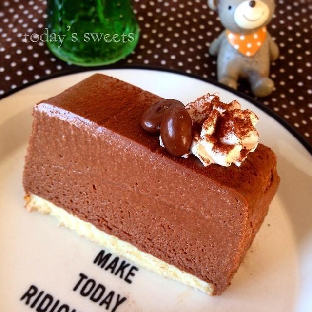簡単♡なめらかチョコレートムースケーキ♡