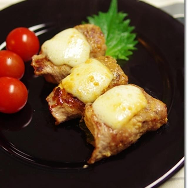 豚の塩麹豆腐巻き味噌チーズ焼き