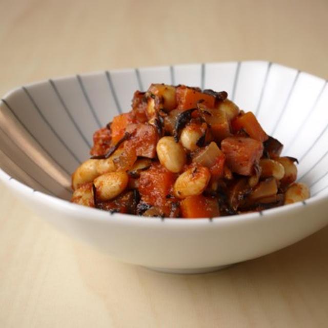 トマト五目豆