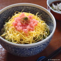 お花畑丼 ~ 鯛と梅干しの炊き込みご飯 | 那珂湊漁港水揚げ活魚