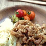 <ほっこりカフェご飯 ぶた南蛮(豚肉の唐揚げの甘酢だれ漬け)>