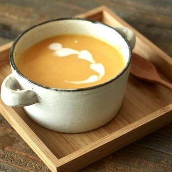 【レシピ】甘酒でやさしい甘さ。かぼちゃのポタージュ/圧力鍋