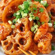 パリパリレンコンともっちりささみの韓国甘辛照り焼き♪秋レシピ