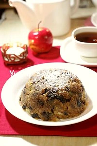 甘酸っぱ〜い♪即席りんごのクリスマスプディング。