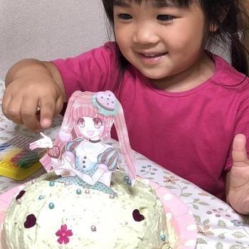 姪っ子ともちんと作るドールケーキ~パパのお誕生日ケーキ~